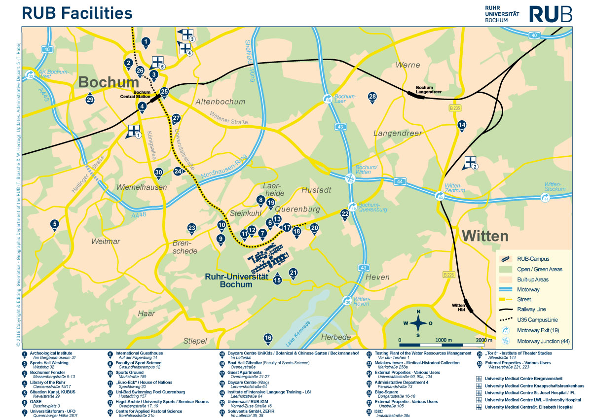 How to reach us by bike RuhrUniversitt Bochum