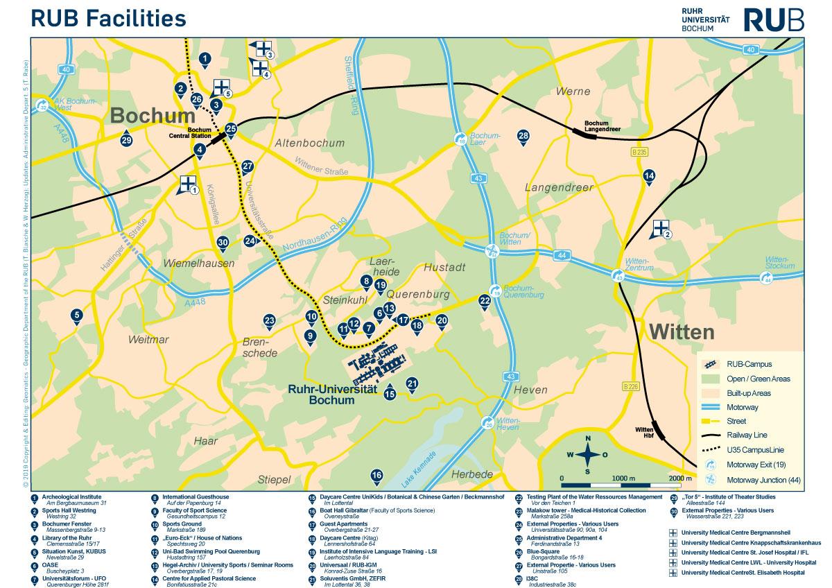 Rub Facilities Map