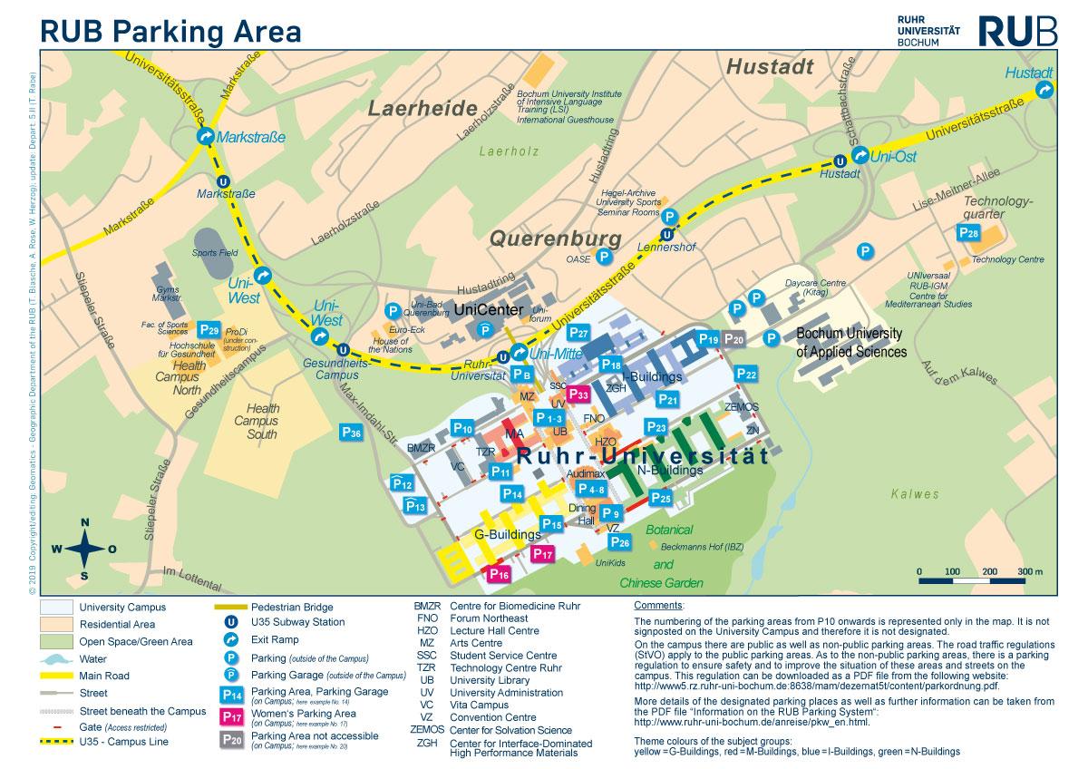 How To Reach Us By Car Ruhr Universitat Bochum
