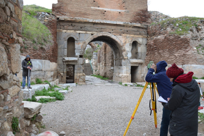 Surveying work at the Lefke-Gate