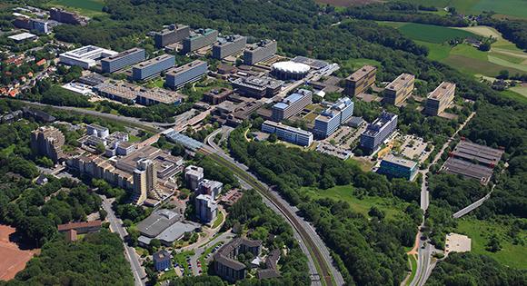 Luftaufnahme vom RUB-Campus
