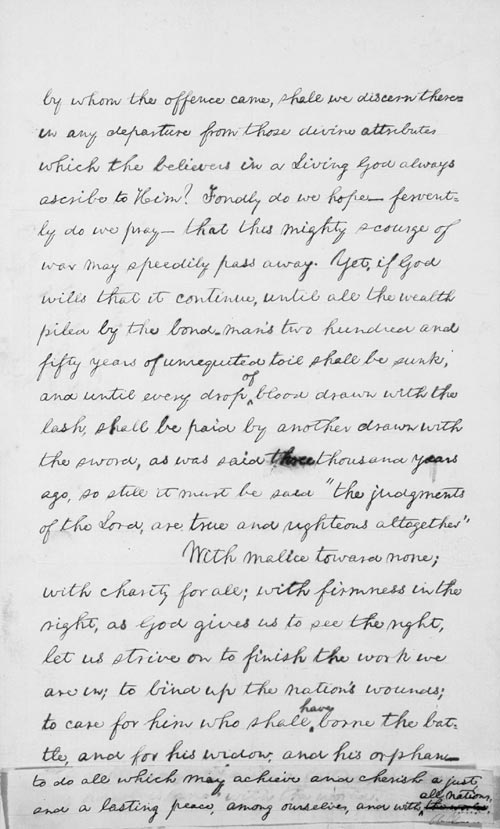 lincolns second inaugural speech essay In abraham lincoln's second inaugural address, lincoln faces a deeply divided nation in midst of a civil war lincoln hopes to mend fences by making a moving speech using inclusive and optimistic diction ,parallelism, appeal to common christian, and substantial amount of balanced syntax.
