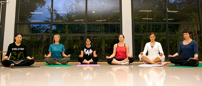 Yoga im Rahmen des Hochschulsports
