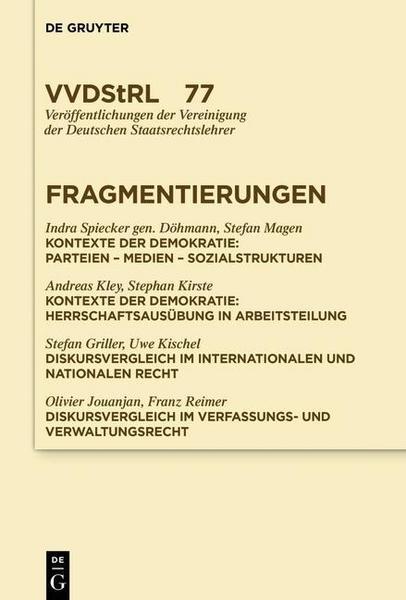 Great Infolge Von Fragmentierungsprozessen Ist Der Demokratische Diskurs Zu Einem  Ort Geworden, An Dem Gesellschaftliche Gruppen öffentlich Und Systematisch  ...