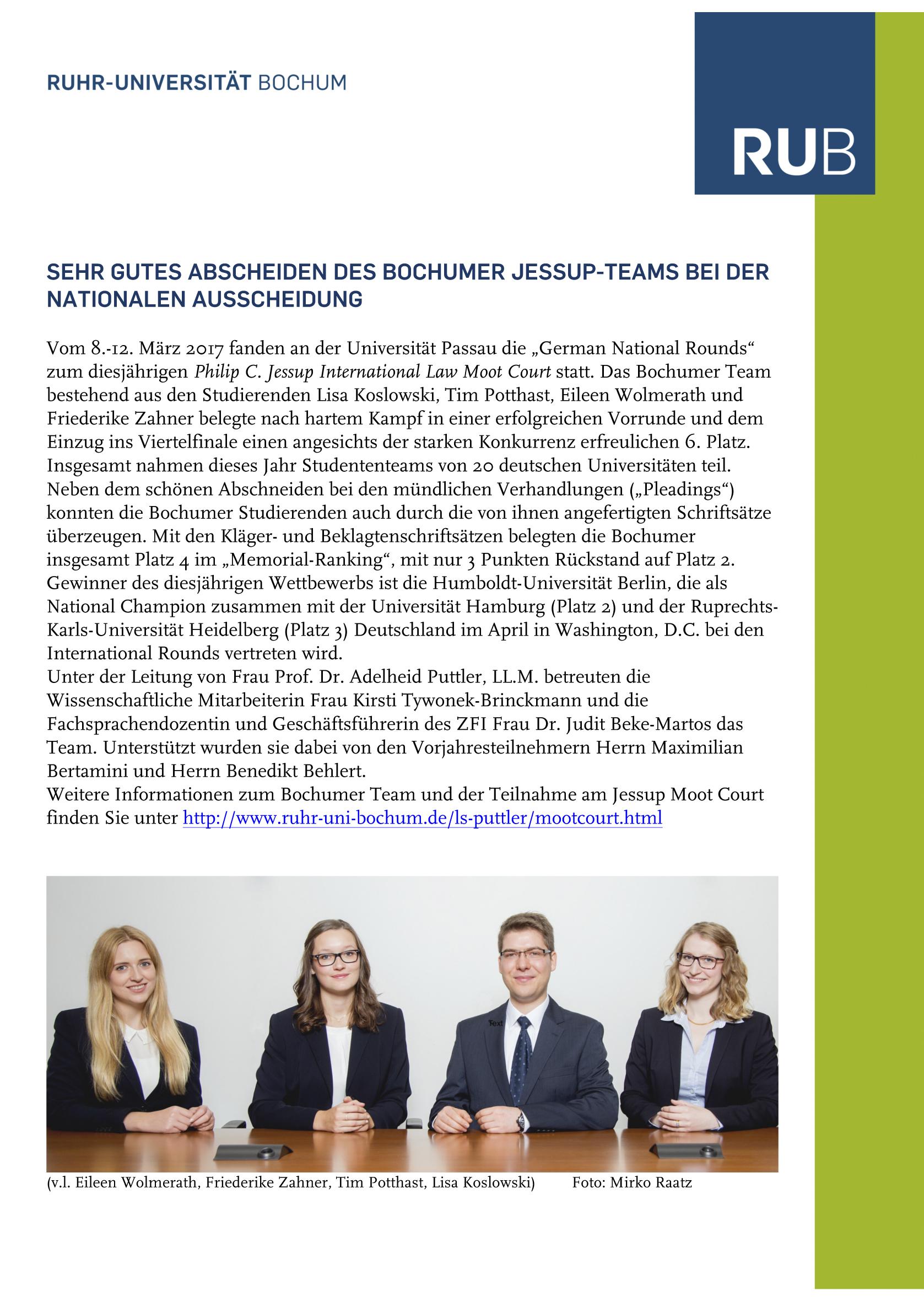 Prof. Dr. Adelheid Puttler, LL.M. Lehrstuhl für Öffentliches Recht