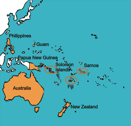 Map Of Australia New Zealand And Papua New Guinea.Gateway To World Englishes